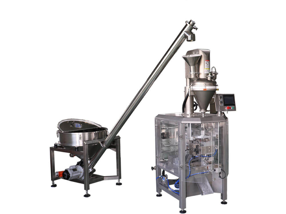 Vertical Form Fill Seal Machine For Powder with Auger